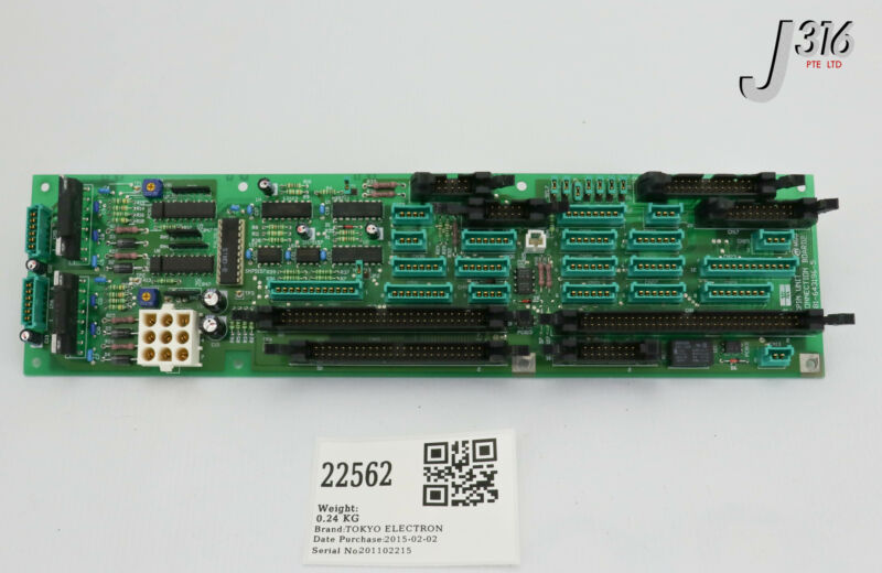 22562 Tokyo Electron Pcb, Spin Unit Connection Board2 381-643196-5
