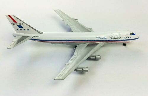 Gemini Jets United Airlines Boeing 747-100 Stars Diecast Model Airplane 1:400