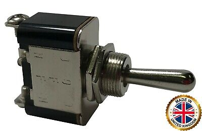 2 Heavy Duty Momentary On - Off - Mom On Metal Toggle Switch 25 Amp 12v - Uk