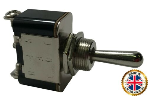 (2) Heavy Duty ON - OFF - ON Metal Toggle Switch 25 Amps 12 Volt 3 Position - UK
