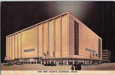 Postcard TX Houston The New Foley's Department Store (Department Stores Houston Texas)