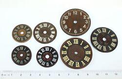 LARGE LOT of SEVEN GERMAN CUCKOO CLOCK DIALS - KC663