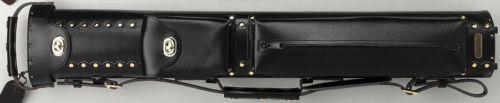 Vincitore Pool Cue Case 3x6 Leather LC36 Black Stick
