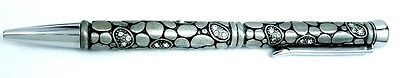 Dazzling Pewter Ink writing Pen with sparkly Crystals in gift box ( CLEARANCE )