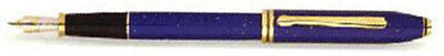 CROSS TOWNSEND LAPIS LAZULI FOUNTAIN  PEN 18K GOLD MEDIUM  PT & INK  NEW IN BOX