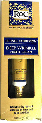 ROC - DEEP WRINKLE NIGHT CREAM - RETINOL CORREXION - 1 OZ