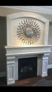 Fireplace mantels stone cast