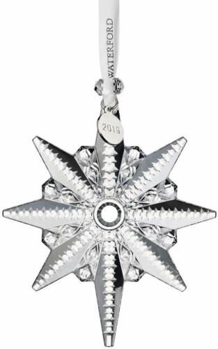 """2019 Waterford Snowstar Crystal Christmas Tree Ornament 4.4"""" #40035469 BRAND NEW"""