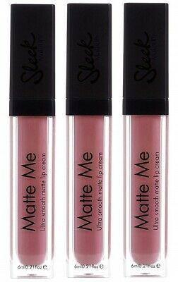 Make-up Petal (Sleek Make Up Matte Me Petal Lipgloss Lip Stick Cream Ultra Smooth 3x 6mls)