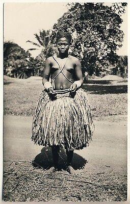 CONGO YOUNG UBANGI WOMAN JUNGE FRAU VINTAGE 30S ETHNIC NUDE PHOTO PC