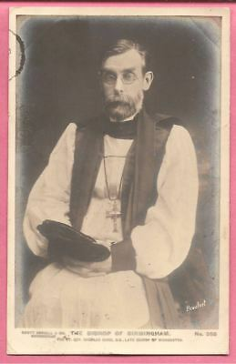 The Bishop of Birmingham Real Photo postcard. Scott Russell & Co.