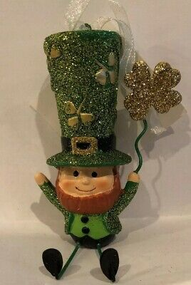 St Patrick's Day Lucky Leprechaun Ornament Sitter Resin Metal Figure](Leprechaun Name)