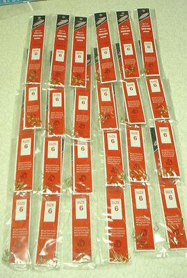 JORGENSEN  960-6 Snelled Gold Egg Hooks - 24 pks / 6 per pack - Size 6