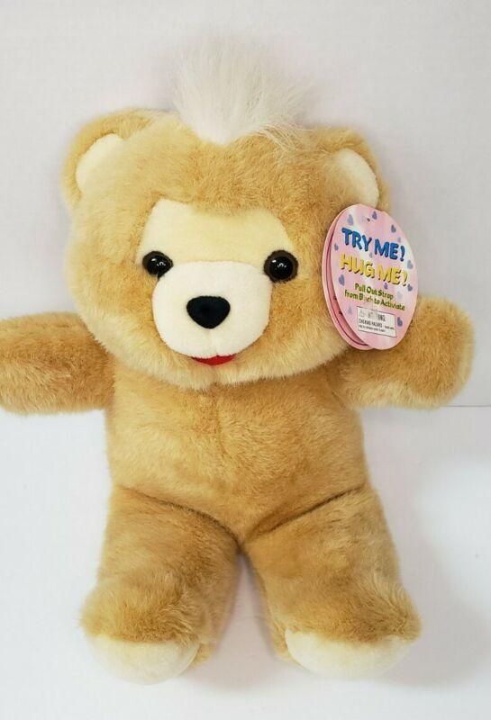 Vtg Uneeda Hug Talking Bear 1997 w/Original tags. EUC Works. See video.