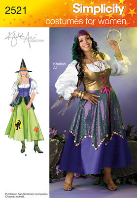 Sew & Make Simplicity 2521 2803 SEWING PATTERN-Womens WITCH GYPSY COSTUMES - Make Gypsy Costume