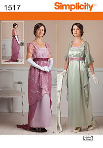 SIMPLICITY-1517-Edwardian-Downton-Abbey-Style-Dress-Costume-Sewing-Pattern