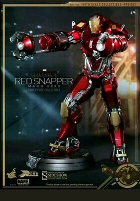 "Hot Toys Iron Man 3 MARK XXXV (35)  RED SNAPPER 12"" Figure 1/6 Scale PPS002"