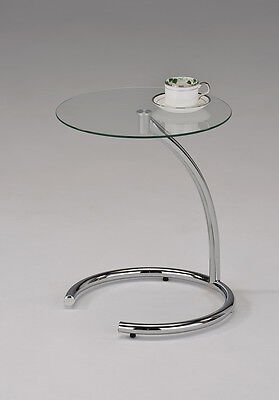تربيزه جديد Kings Brand Chrome With Glass Modern Accent Side End Table ~New~