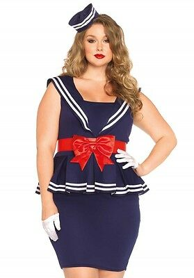 LAG Leg Avenue 85403X Sexy Damen Kostüm Seemann Matrose Full Cut Marine Sailor  (Sexy Cute Kostüme)
