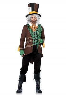 LAG Leg Avenue 85317 Fasching Herren Kostüm Hutmacher Classic Mad Hatter - Leg Avenue Mad Hatter Kostüm