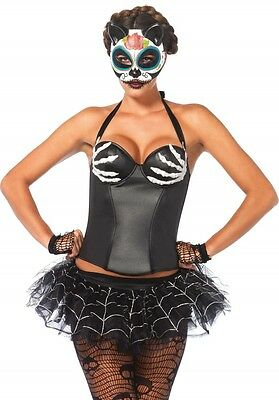 Leg Avenue Bügel Halter Korsett ,Halloween,Fasching,Karneval,Sexy,OVP/NEU 2637 ()