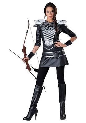 Ladies Size XL Medieval Midnight Huntress Archer Halloween - Medieval Archer Costume
