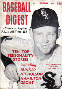 1964 aug baseball digest magazine dave nicholson chicago