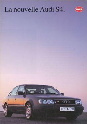 CATALOGUE VOITURE PUB. AUTO AD.CAR LA NOUVELLE AUDI S4 1991  EN FRANCAIS