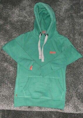 Green Superdry hoodie XXS