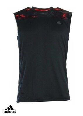 Schwarz Climalite Performance T-shirt (Adidas Performance Base Tank T-Shirt Weste Climalite S19635)