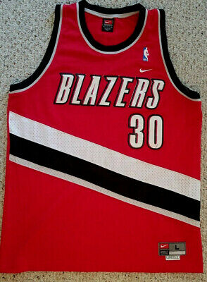 Portland Trail Blazers #30 Rasheed Wallace NBA Jersey Nike Team Red Size Large