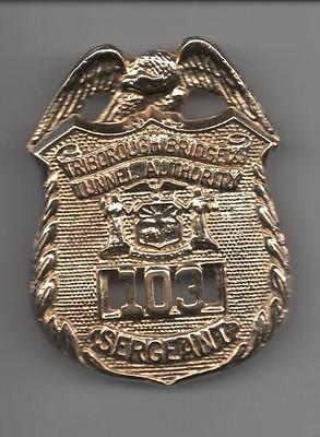 VINTAGE! OBSOLETE!  NEW YORK CITY POLICE BADGE - TRIBOROUGH  BRIDGE SARGENT