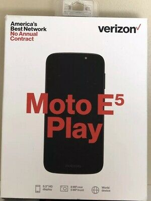 Motorola Moto E5 Play 16GB CDMA (Verizon ) 8MP Smartphone - Black NEW