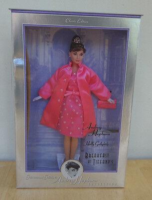 Vintage1998 AUDREY HEPBURN BREAKFAST AT TIFFANY'S BARBIE Pink MIB Beautiful!!