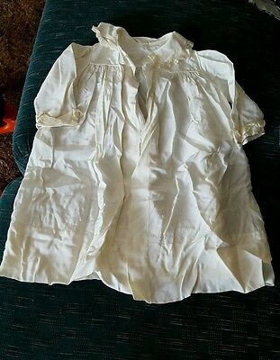 VINTAGE ♡ LATE 1800's ♡ VICTORIAN ♡ BABY CHILD'S SILK IVORY CHRISTENING COAT