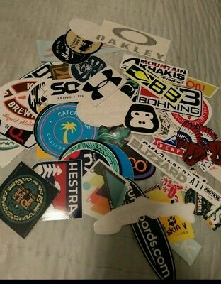 7x Sticker Lot surf shop surfboard sticker Hiking Biking Outdoor Decal Lot