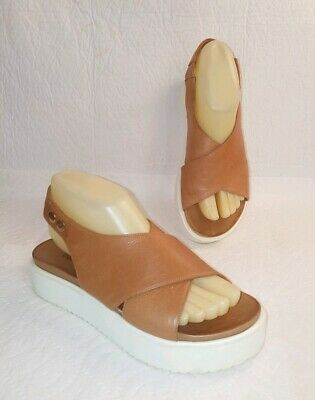 INUOVO Women's Brown Leather Sandal Size 37 US 6.5