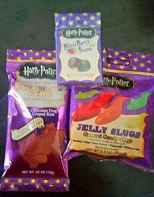 FRESH HARRY POTTER HOGWARTS CANDY  CHOCOLATE FROG BERTIE BOTTS BEANS JELLY SLUGS