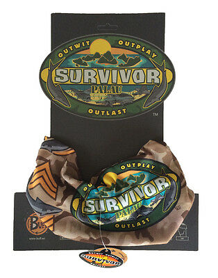SURVIVOR BUFFS:  Palau Brown Koror Tribe Buff - New on Original Display