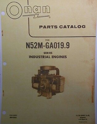 Onan N52M-GA019.9 Engine Dealer Parts Manual 32pg Welder Generator Sears Tractor