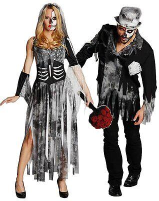 IAL Damen o Herren Karneval Halloween Kostüm Zombie Braut o Bräutigam Auswahl