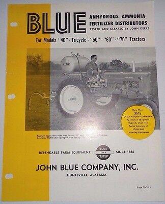 Blue Ammonia Fertilizer Distributor For John Deere 40 50 60 70 Tractor Brochure