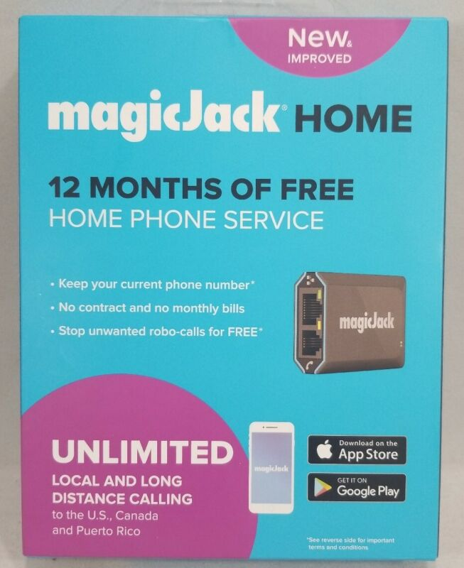 magicJackHome 2019 (Latest Version) VOIP Phone Adapter Portable Phone Service
