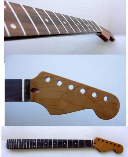 Roasted Stratocaster Guitar Neck -MOP- / Rosewood Fretboard & Warmoth Bone Nut