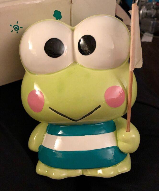 Vintage Keroppi Frog Bank Sanrio 1988-90