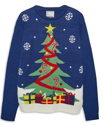 Primark Christmas Jumper Tree Light Up Knitted Sweater Size XL XXL ()