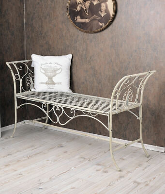 Garden bench Shabby Chic  Bank Country Style wrought iron antique art nouveau