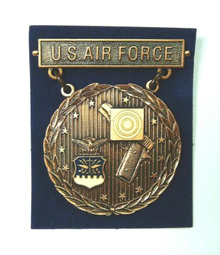 US Air Force Pistol EIC Excellence In Competition Badge Medal, Bronze, National