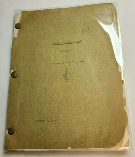THE SPOILERS / Tom Reed 1942 Screenplay, Marlene Dietrich *PARTIAL SCRIPT*