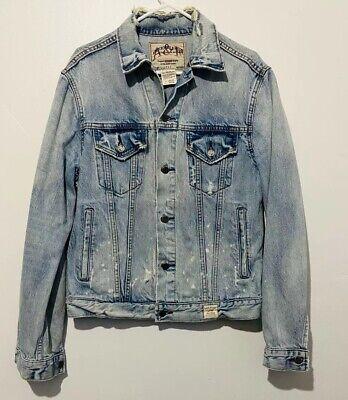 Abercrombie & Fitch Men Destroyed Denim Jacket, Size:M